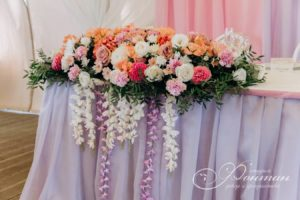 цветочная композиция на свадьбу фото
