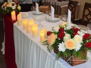 свечи на свадебном столе фото
