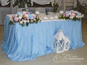 пример голубого на свадьбе фото