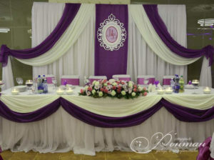 свадебное оформление фиолетовый фото