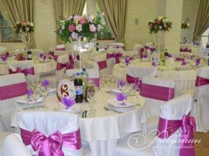 розовый бант на свадьбу фото