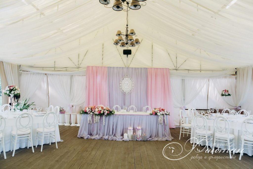 розовая свадебная ширма фото