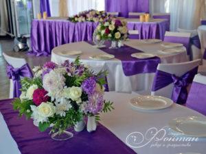 свадьба в пурпурных тонах фото
