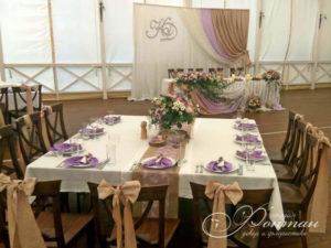 банты на стульях свадьба фото