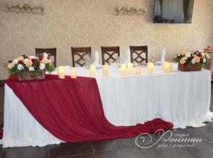 малиновый в свадебном декоре фото