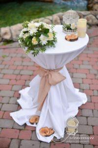 свадебный столик с декором фото