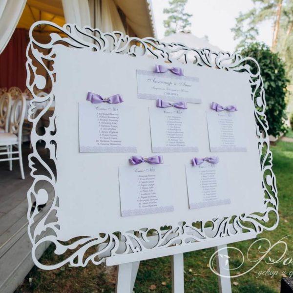 карта рассадки гостей на свадьбе фото