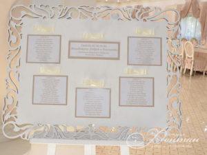 золотистая карта рассадки гостей фото