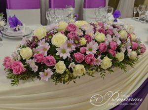 белые, розовые, желтые цветы на свадьбе фото