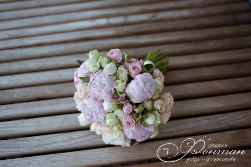 свадебный букет разноцветный фото