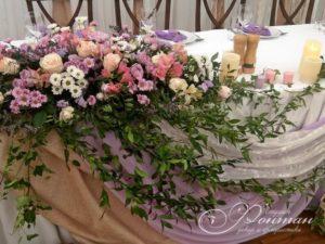 цветочные композиции на свадебный стол фото