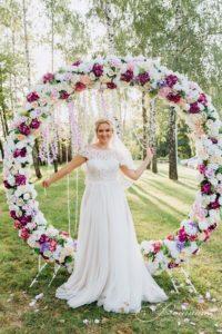 круглая цветочная свадебная арка фото