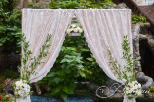 тканевый декор свадьбы фото