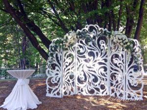 ажурная свадебная арка фото