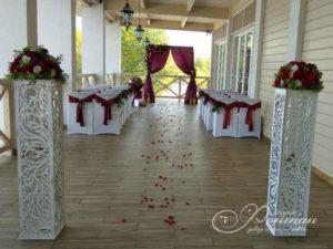 свадьба в бордовых тонах фото