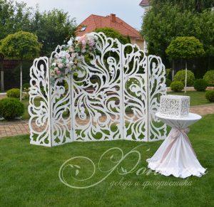 Весільна ажурна ширма